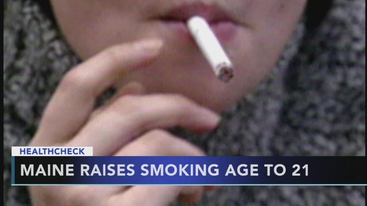 Maine raises smoking age to 21