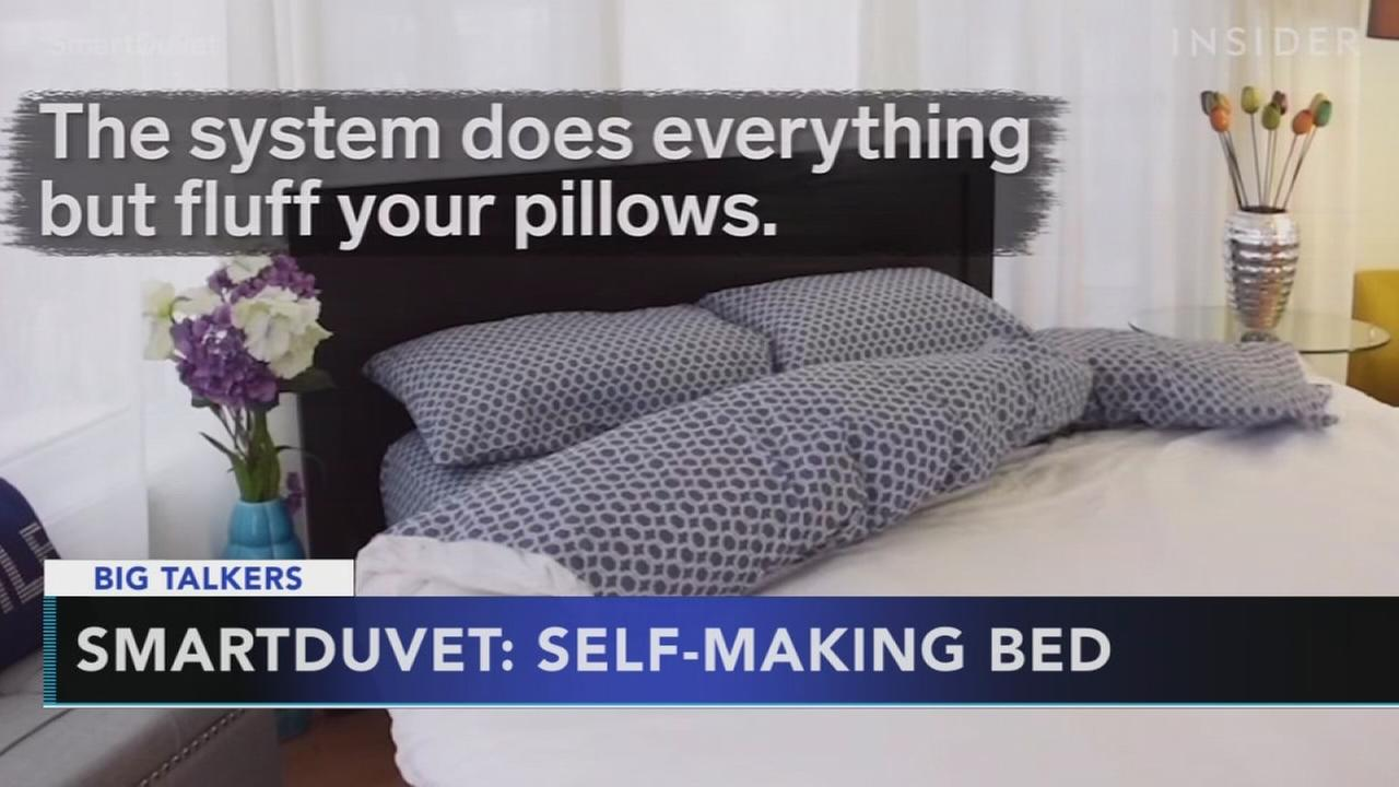Smart bedding makes itself for you and controls temperature