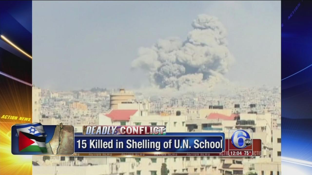 VIDEO: Israeli tank shells hit UN school