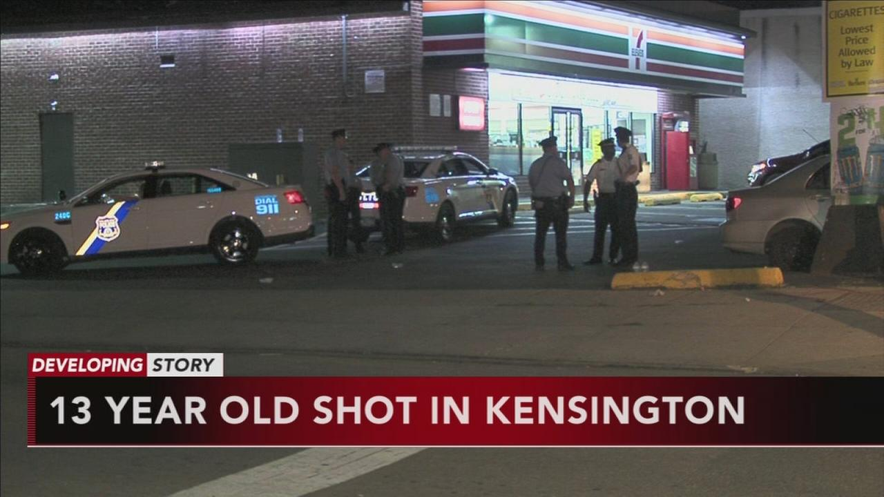 Boy, 13, shot and wounded in Kensington