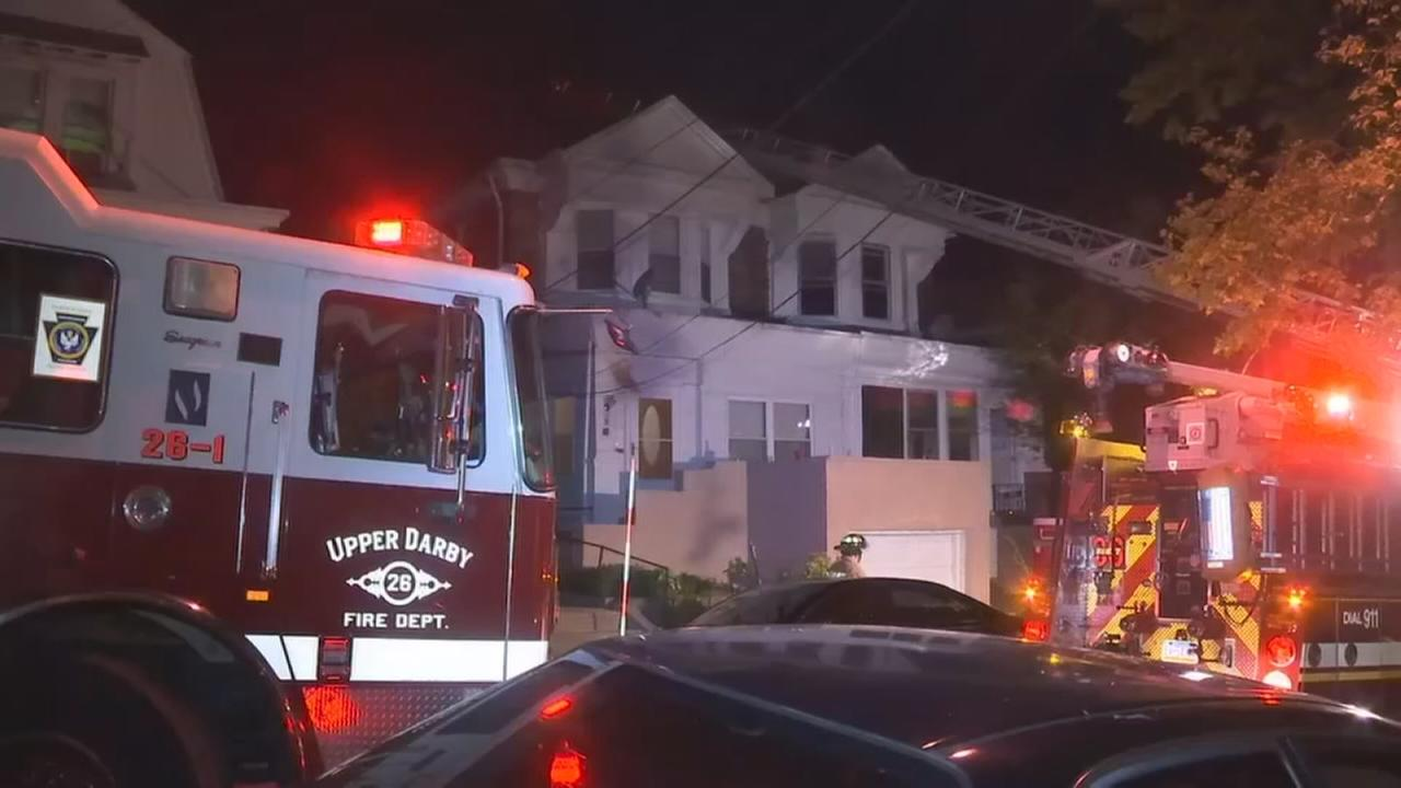 Fire damages home in Upper Darby