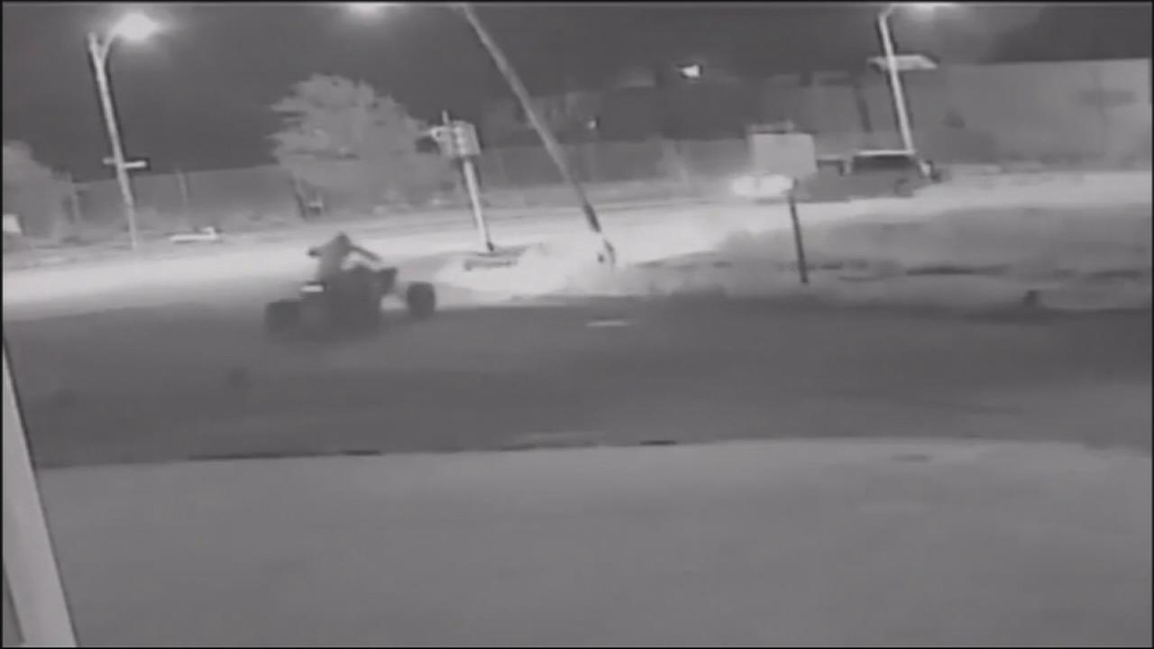 VIDEO: Police seek ATV rider who struck 2 officers