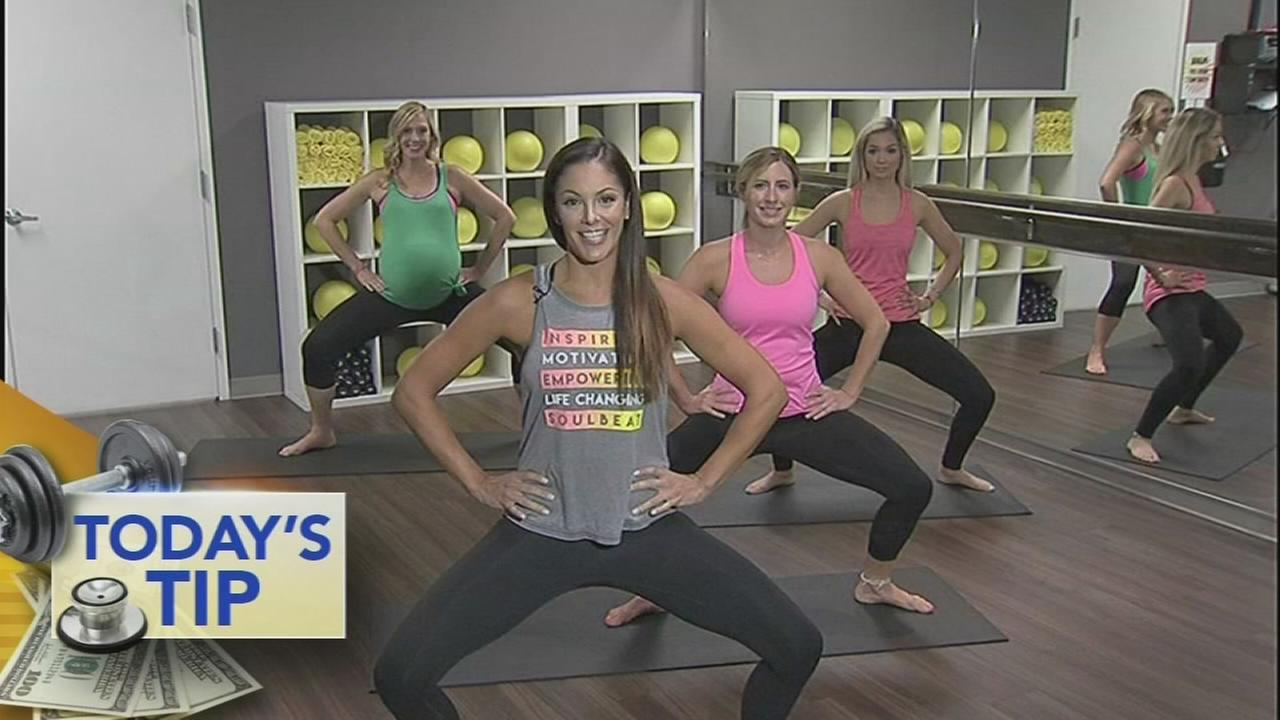 Working the inner thighs - Todays Tip