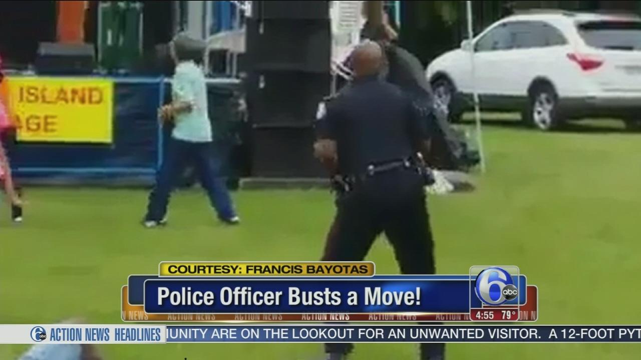 VIDEO: Cop busts a move at jazz festival