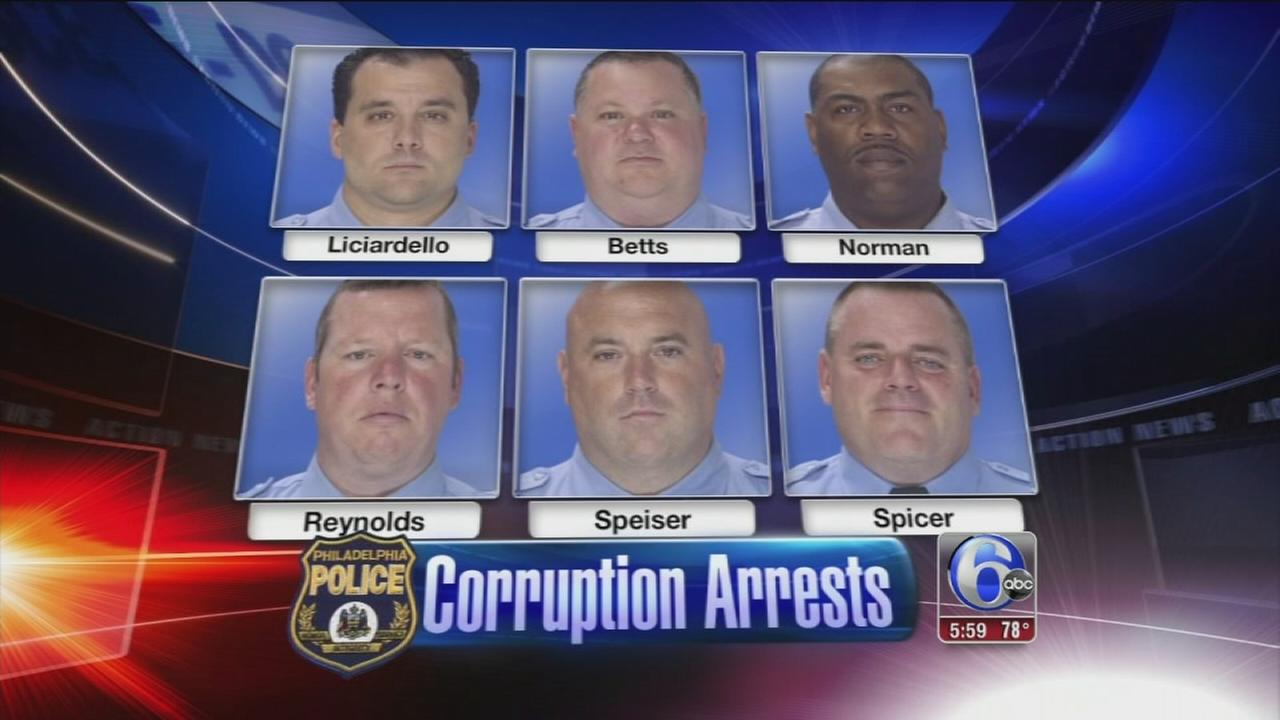VIDEO: 6 Phila. narcotics officers arrested