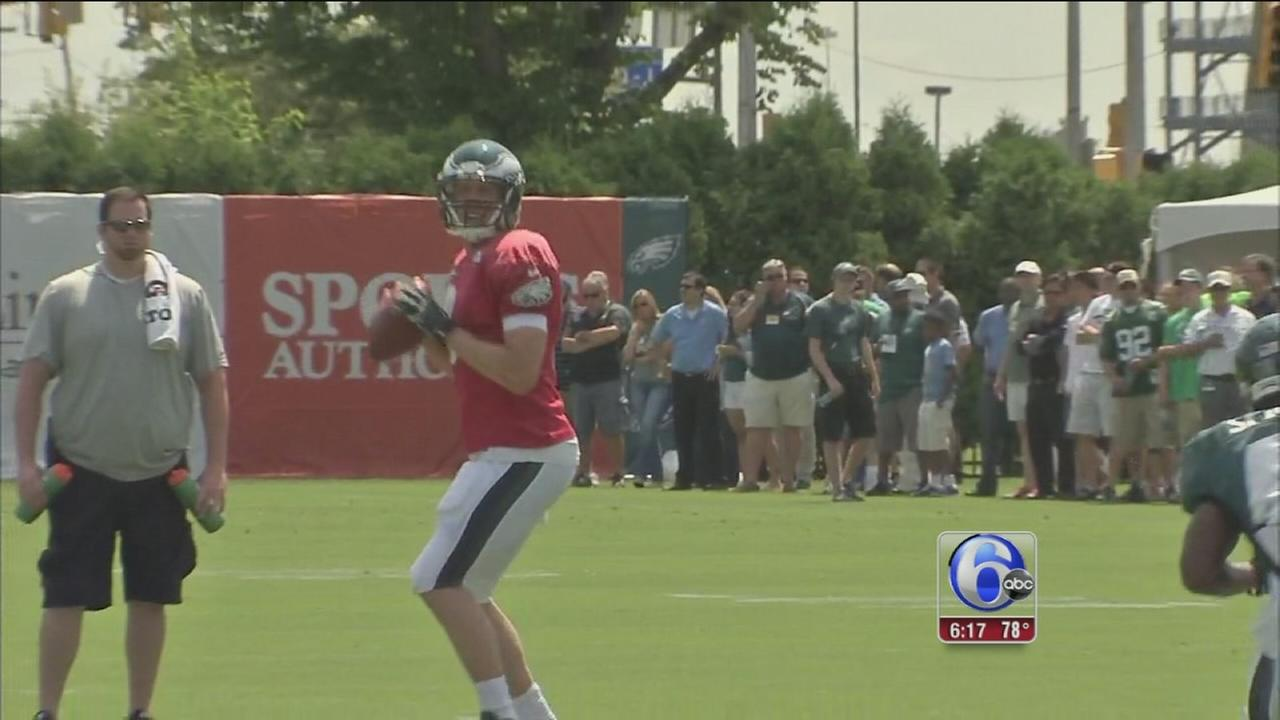VIDEO: Eagles training camp continues after off day