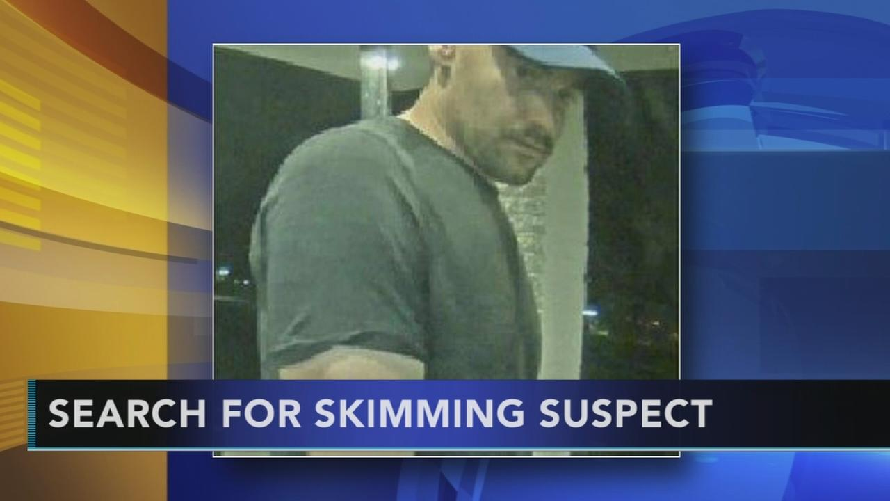 VIDEO: Search for Evesham skimming suspect