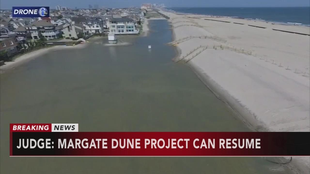 Judge lets US government resume Margate dune project