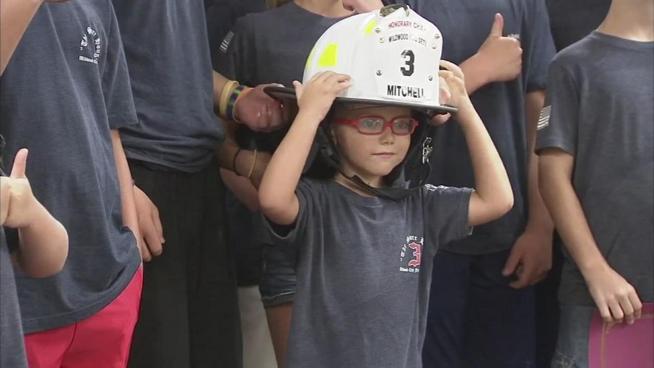 VIDEO: Boy made honorary fire chief in Wildwood