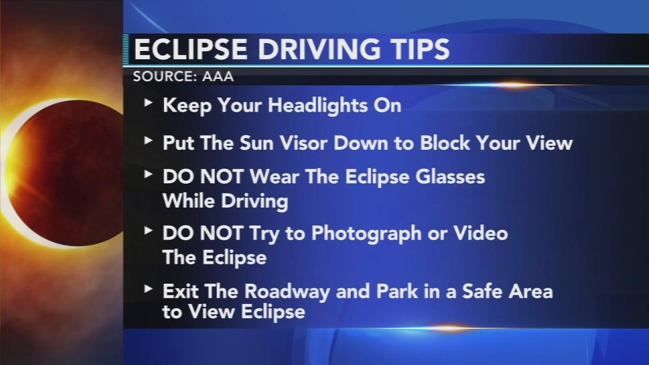 Tips for driving during solar eclipse