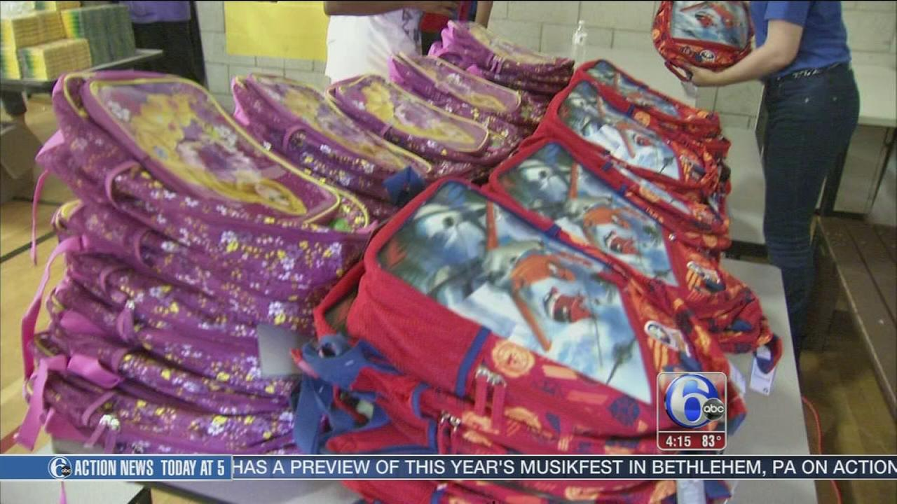 VIDEO: Disney hopes to break record with book bag donations