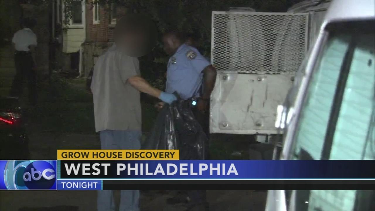 Pot grow house discovery in West Philadelphia