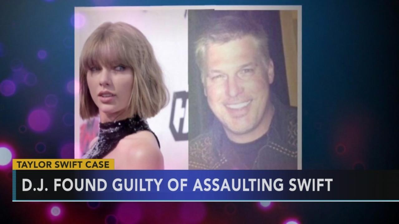 DJ found guilty of assaulting Taylor Swift