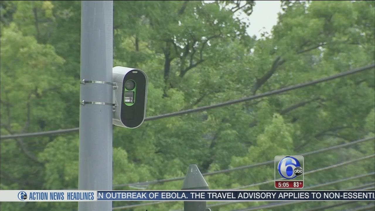 VIDEO: Red light cameras installed in Abington