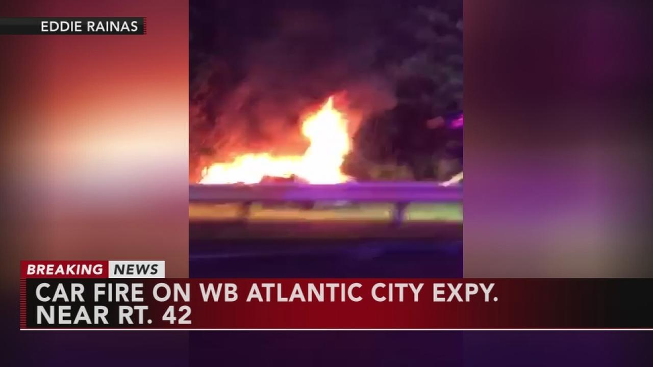 Fiery crash on AC Expressway