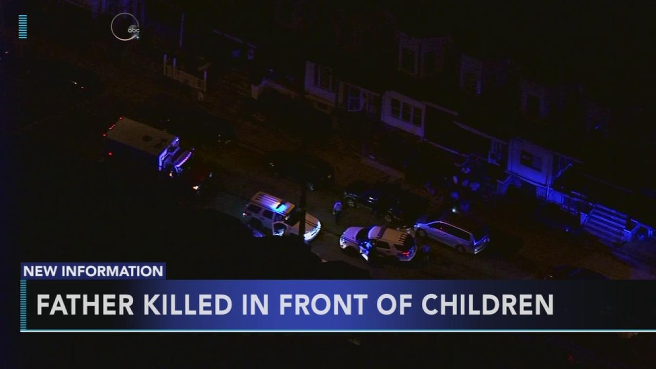 Father shot in front of kids