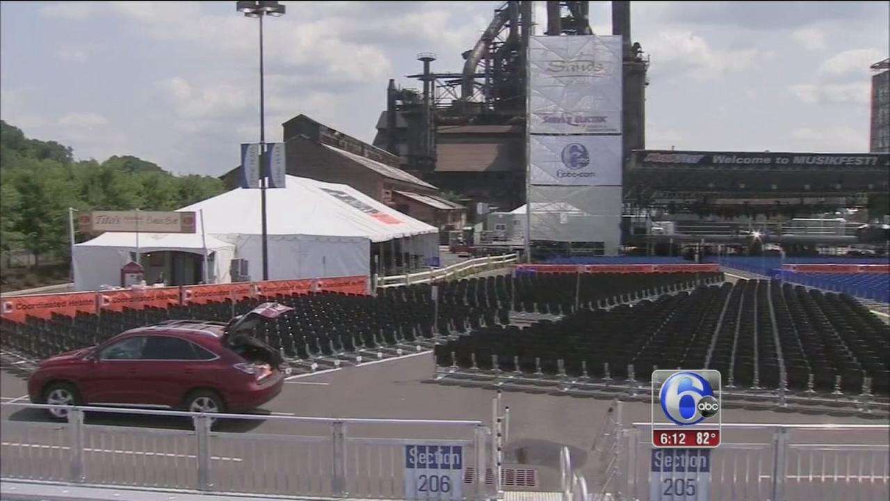 VIDEO: Final day of preps ahead of Musikfest