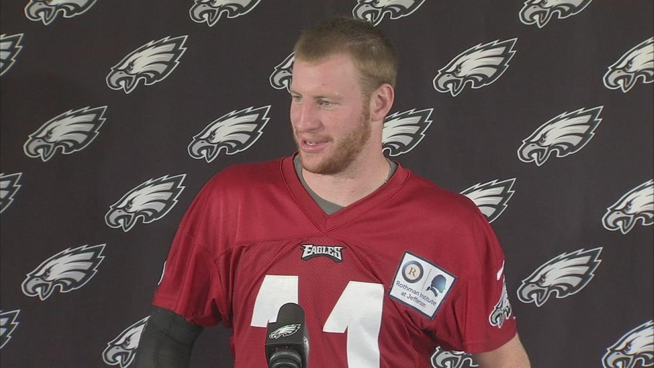 Difference a year makes for Carson Wentz