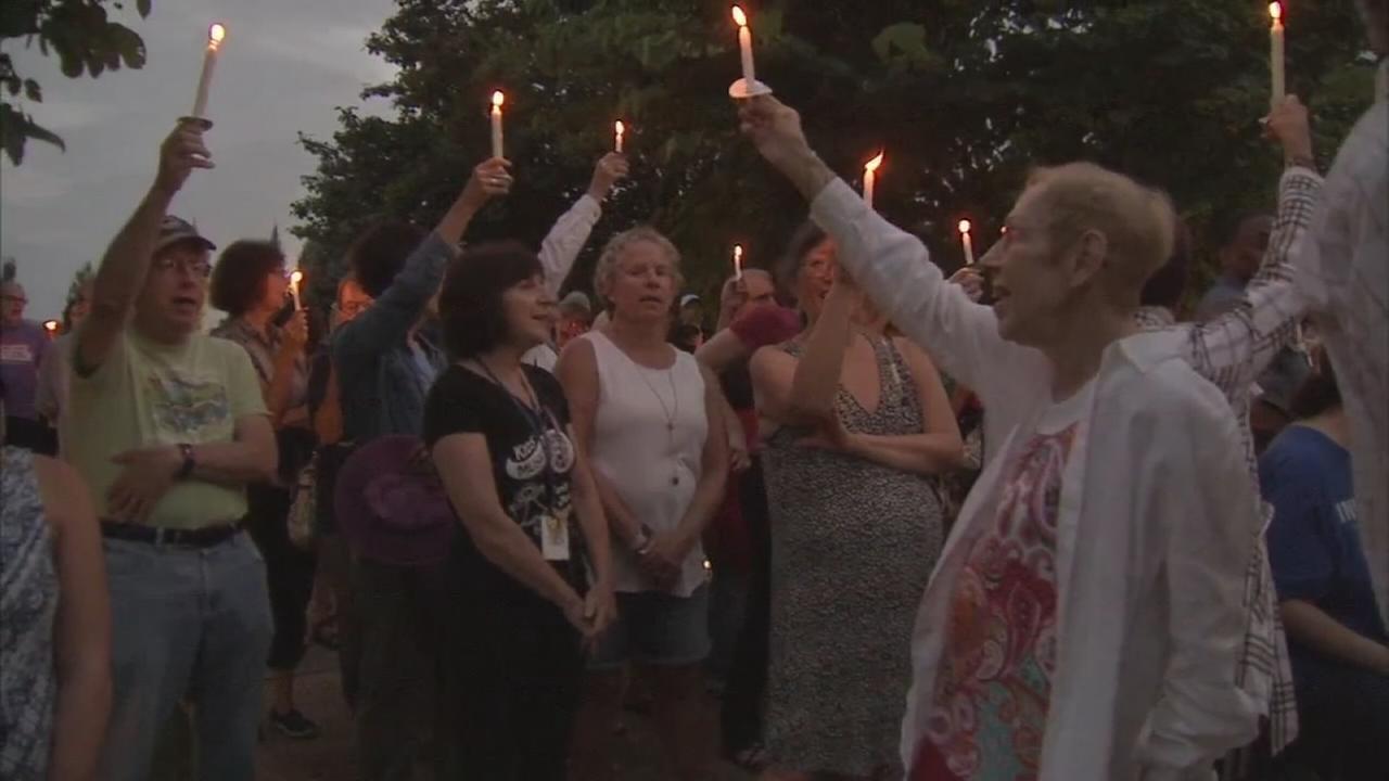 Solidarity among group at Garden of Reflection