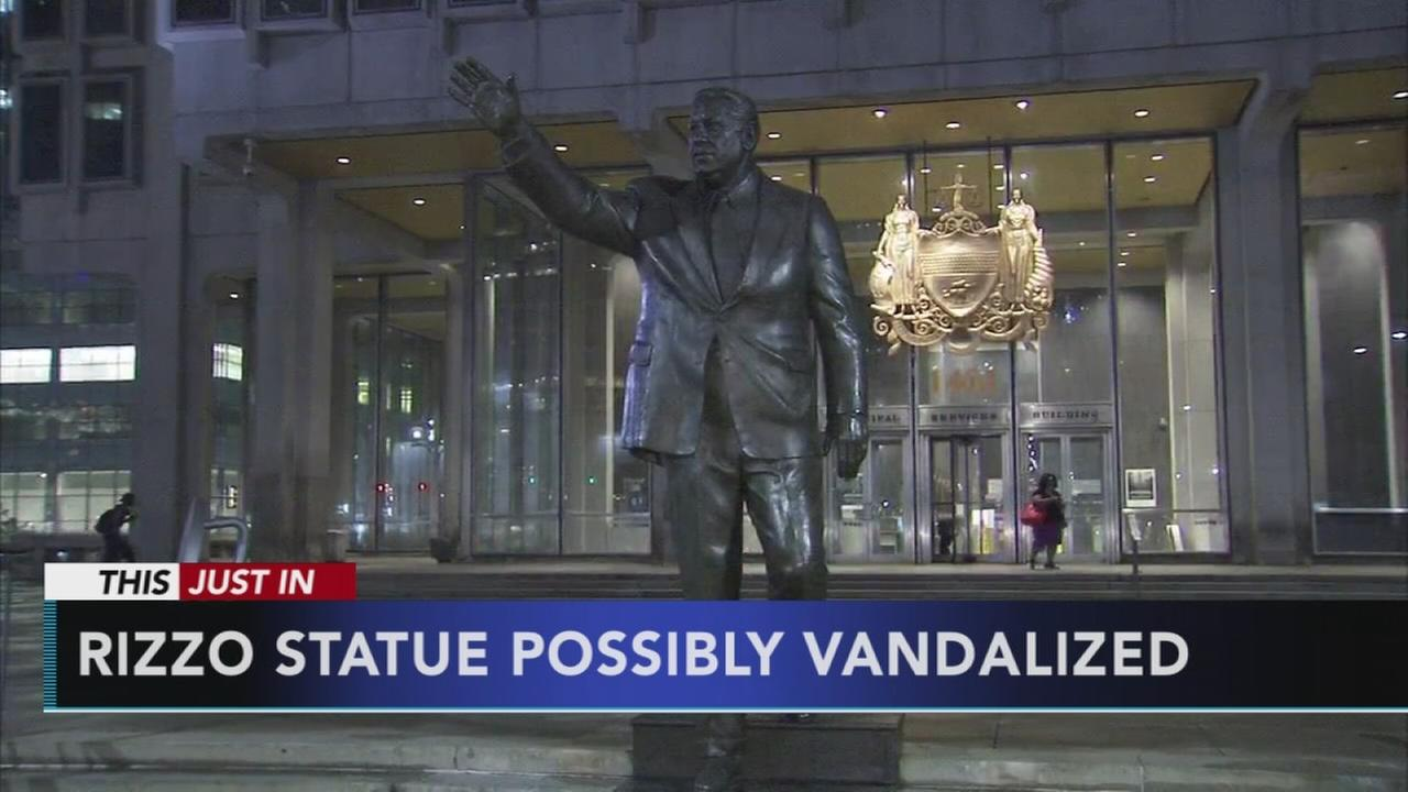 Possible vandalism to Rizzo statue investigated