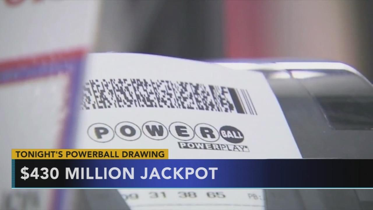 $430M Powerball drawing tonight