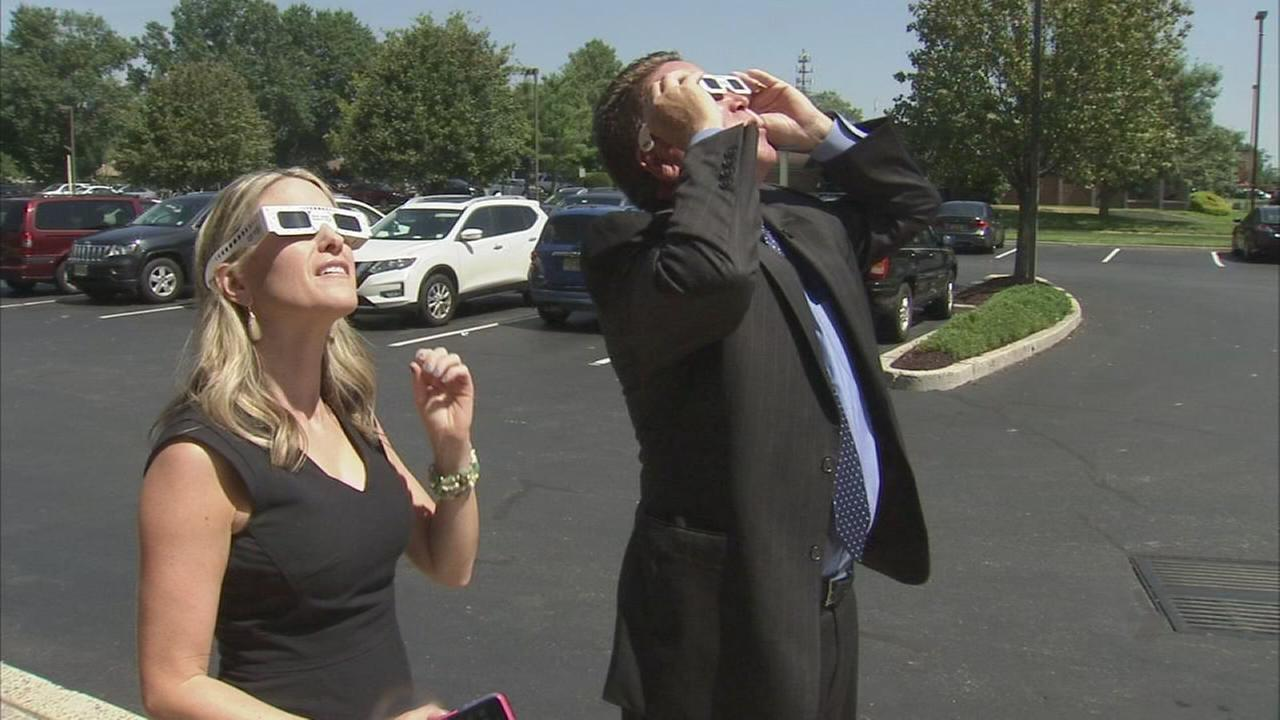 Viewing the solar eclipse safely