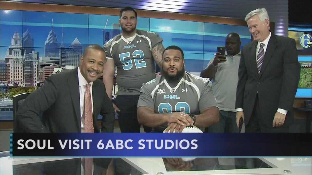 Philadelphia Soul visits the 6abc studios