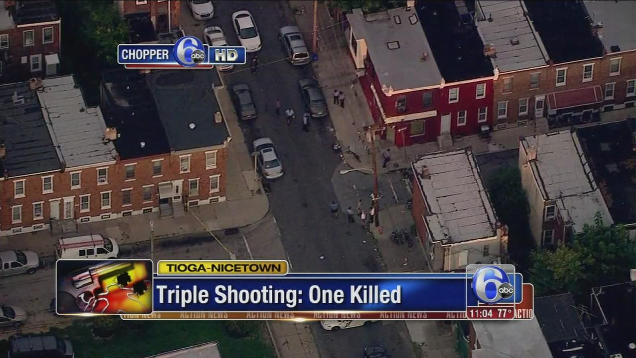 VIDEO: Man killed in Tioga-Nicetown triple shooting