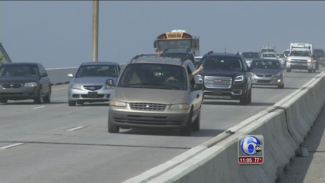VIDEO: Southbound lanes of I-495 bridge reopens early
