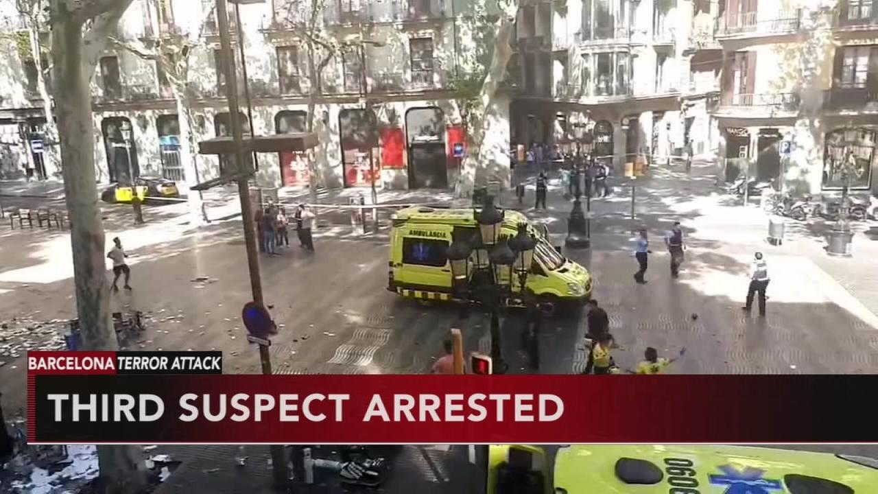 Third suspect arrested in Barcelona
