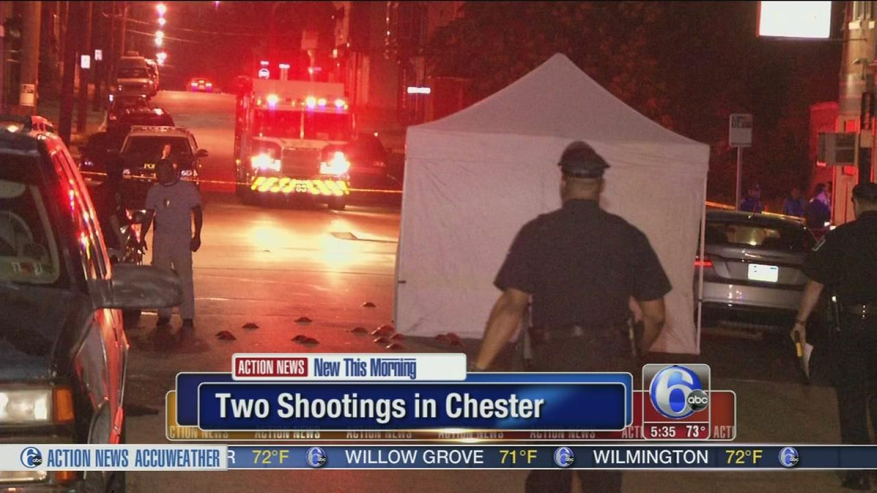 VIDEO: Police investigate 2 shootings, 1 fatal in Chester