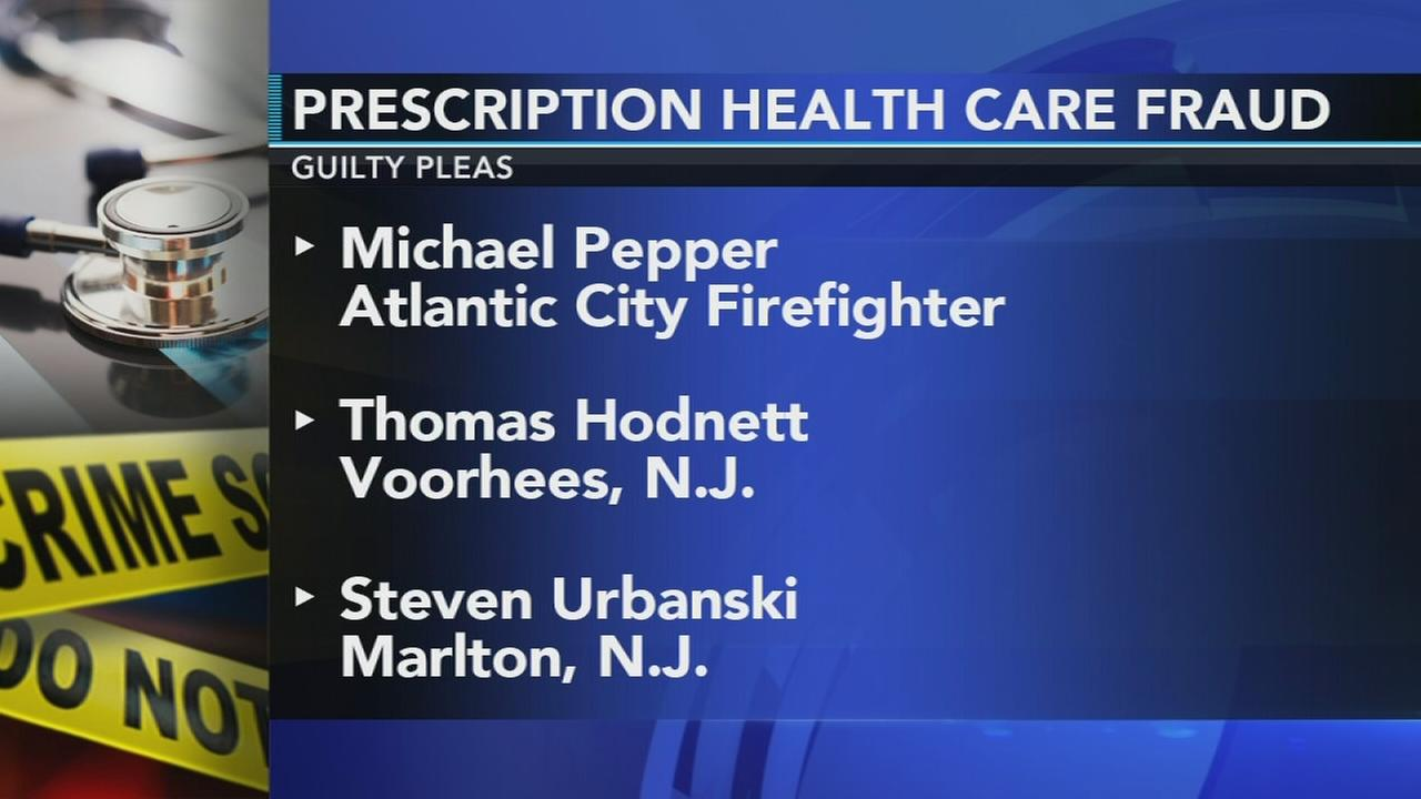 3 men plead guilty to NJ prescription health care fraud