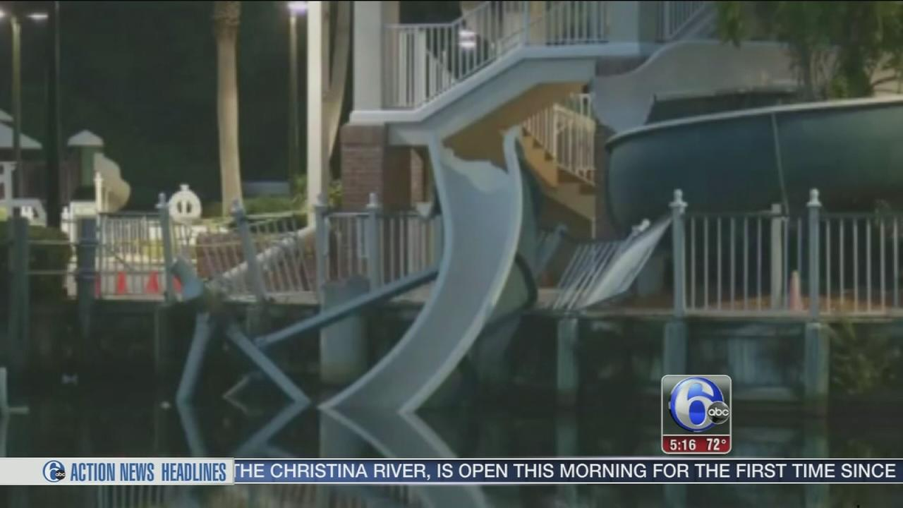 VIDEO: Florida students injured in waterslide collapse