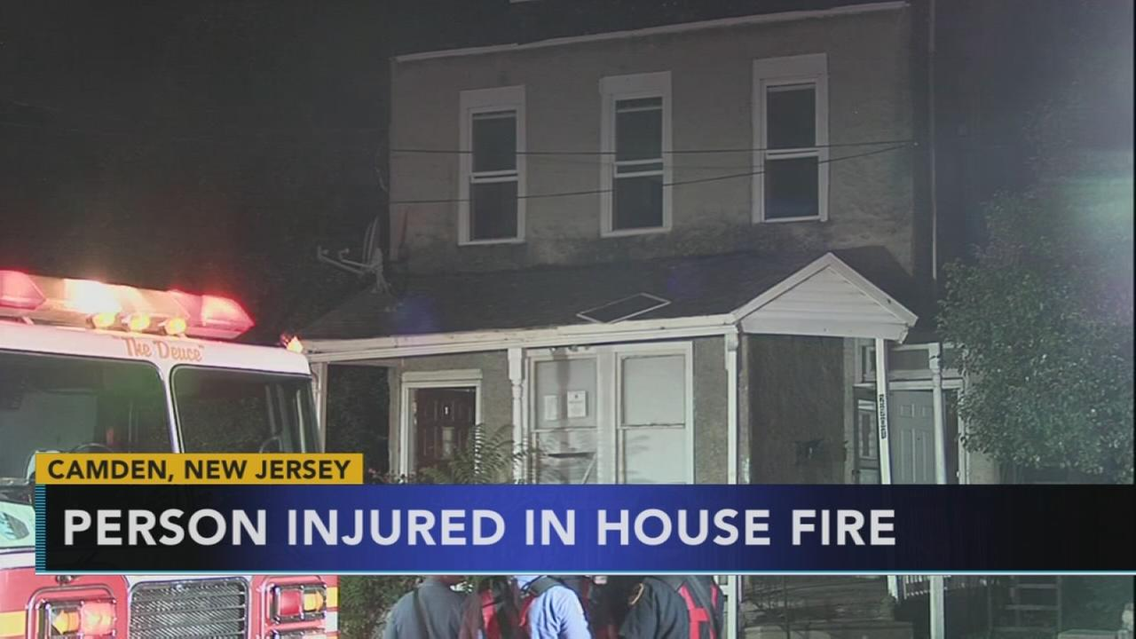 1 person injured in Camden house fire