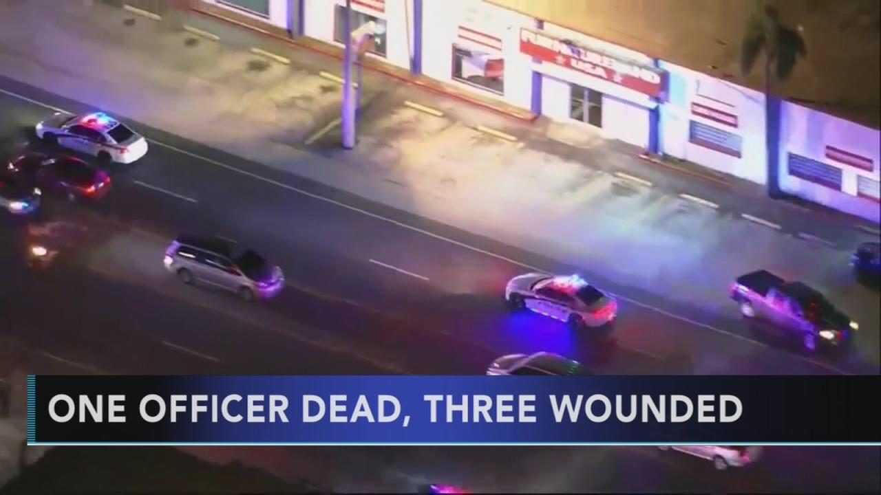 1 police officer killed, 3 injured in 2 shootings in Florida