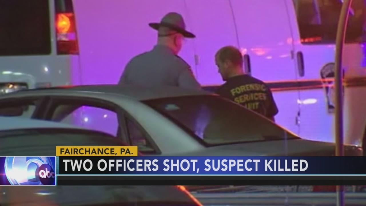 2 PA state troopers shot, suspect killed