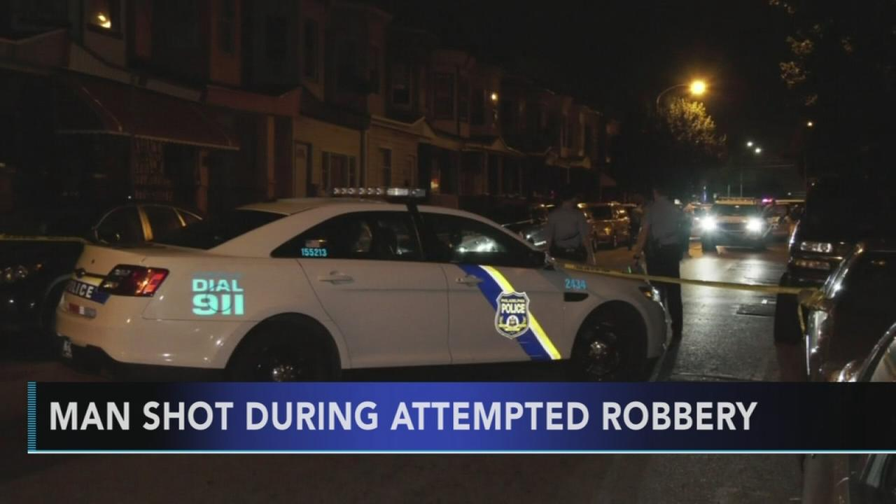 Man shot during attempted robbery in Kensington