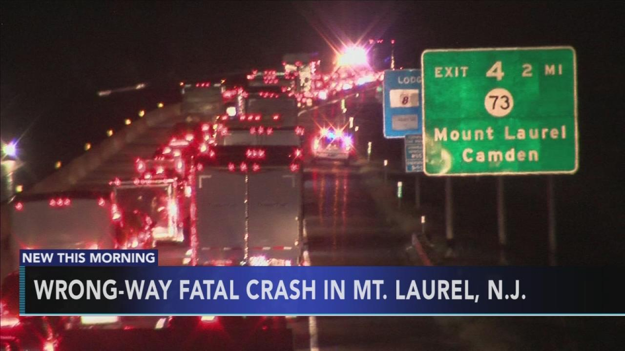 Wrong-way fatal crash in Mt. Laurel