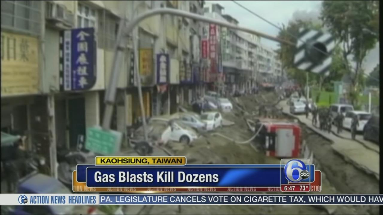 VIDEO: 12,000 evacuees return after Taiwan gas explosions