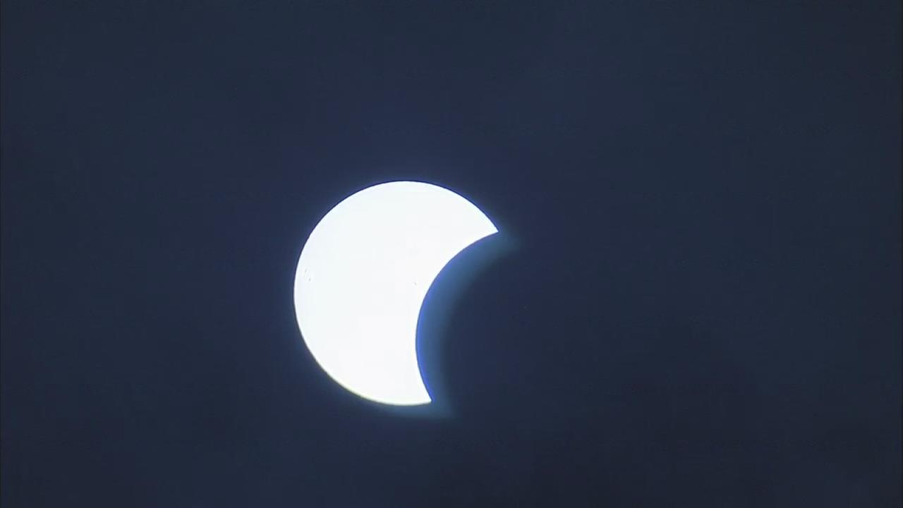 Time Lapse: Solar eclipse over Belmont Plateau