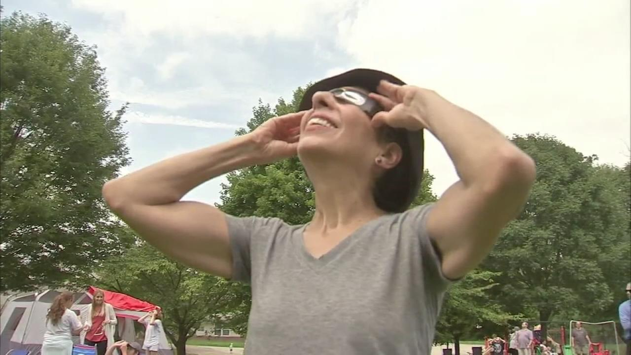VIDEO: Eclipse viewing at NASA observation site in Wayne, Pa.