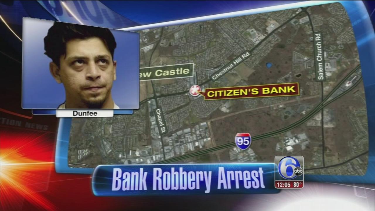 VIDEO: Bank robber caught in mantrap
