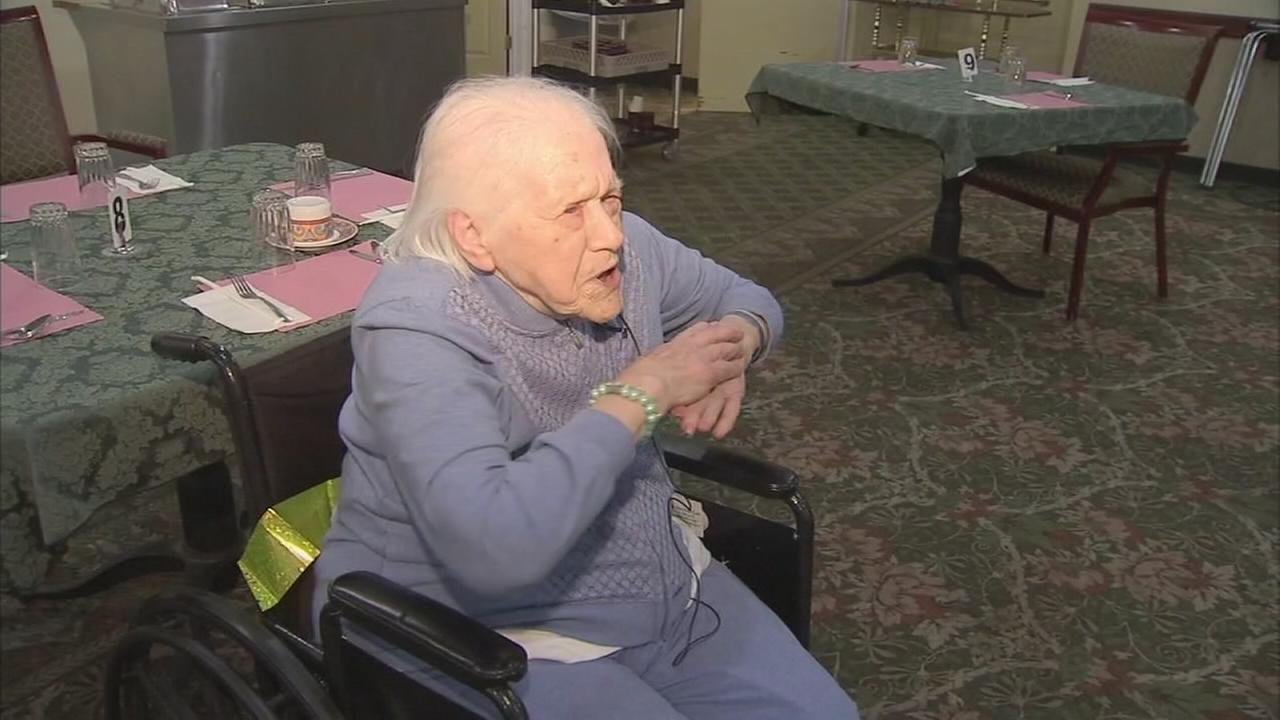 VIDEO: 100 year old leads exercise group on her birthday
