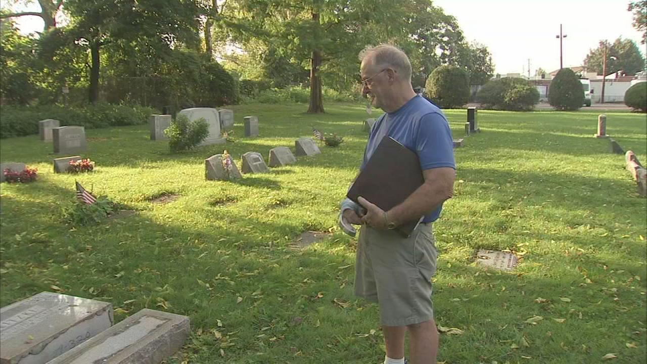Headstone toppled at St. Lukes Cemetery in Bustleton