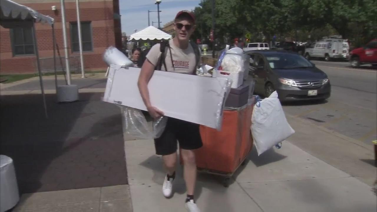 Move-in day at Temple University