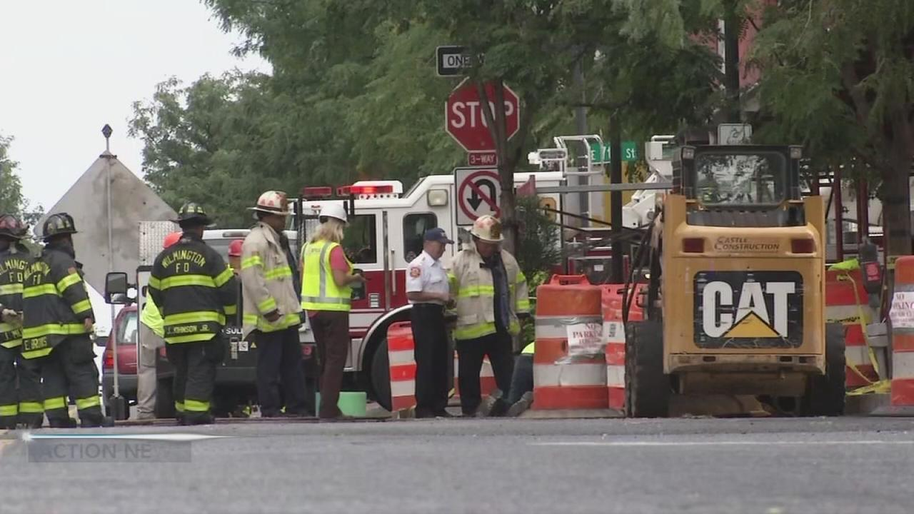 Crews battle underground fire in Wilmington