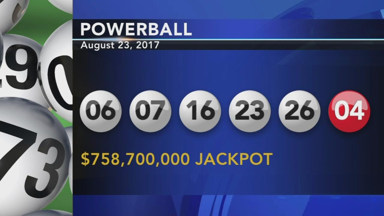 Powerball winning numbers: 06-07-16-23-26  PB-04