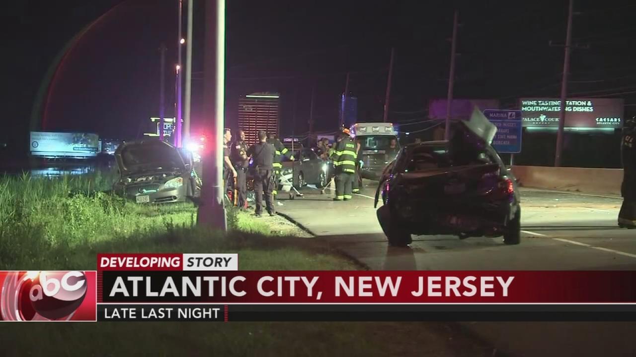 6-vehicle pileup in Atlantic City