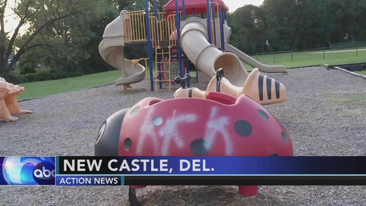 VIDEO: Racist graffiti found on Delaware playground