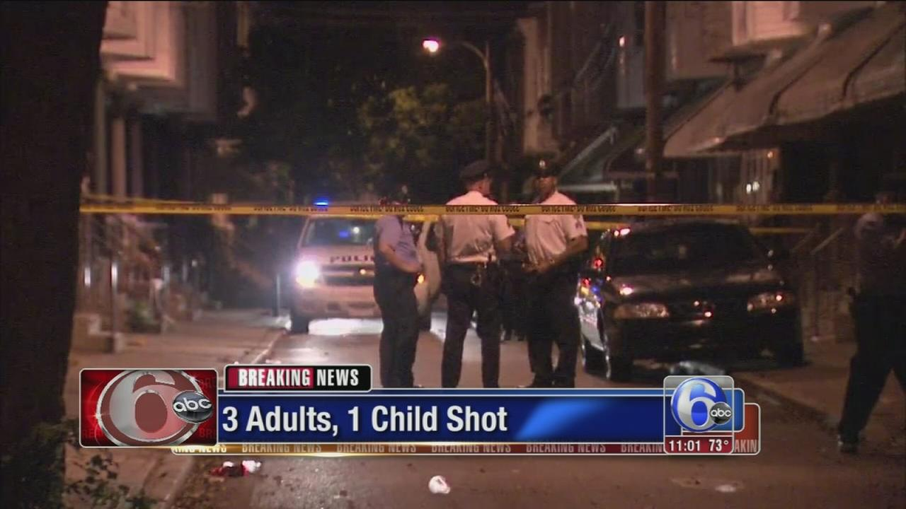 VIDEO: Child dead, 3 wounded in Grays Ferry shooting